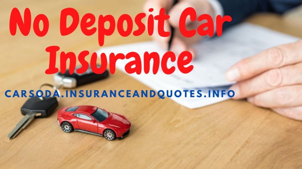 No Deposit Car Insurance